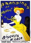 Amandines de Provence. Almond Biscuits Advertising Poster