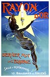 Nude woman poster. Rayon d'Or light fixture, 1895