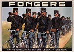 Vintage Bicycle Poster - Fongers, Netherlands