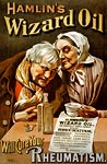 Hamlin's wizard oil, to cure Rheumatism poster