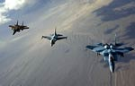 F-15 Eagle and F-16 Fighting Falcon