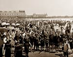 Atlantic City Beach, Steeplechase Pier, tourists, New Jersey