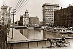Erie Canal at Salina St., Syracuse New York 1900