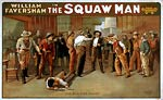 William Faversham in The squaw man Poster 1905