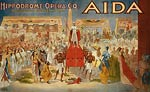Aida theatrical poster Egypt - Hippodrome opera co.