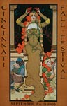 Cincinnati fall festival 1903 art nouveau jewelry Poster