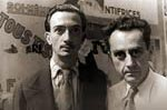 Portrait of Man Ray and Salvador Dali, Paris