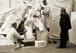 Auguste Rodin, sculptor at work