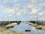 The Entrance to Trouville Harbour Eugene Boudin