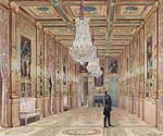 View of the Picture Gallery at the Chateau d'Eu
