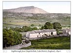 Ingleborough from Chapel-le-Dale, Lake District, England