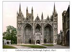 Peterborough Cathedral (west front), England