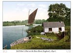 Eel fisher's hut on the Bure River, England
