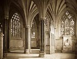 Chapel, Wells Cathedral old antique picture
