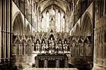 Reredos and Altar, Worcester Cathedral victorian era