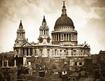 Saint Paul's Cathedral, London old victorian photo