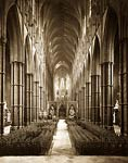 Westminster Abbey. The Nave antique photograph