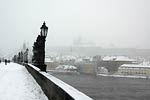 Charles Bridge in the Snow, Prague