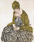 Edith with Striped Dress, Sitting