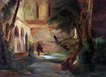 Cloister in the forest by Karl Blechen