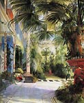 interiour of the palm tree house Karl Blechen