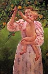 Baby Reaching for an Apple aka Child Picking Fruit Mary Cassatt