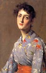 Girl in a Japanese Kimono by William Merritt Chase