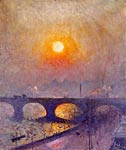 Sunset over Waterloo Bridge London by Emile Claus