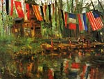 The New Pond in the Tiergarten, Berlin Lovis Corinth