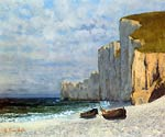 A Bay with Cliffs - Gustave Courbet