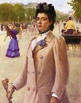 Portrait of a Lady on the Champs Elysees George Vaughan Curtis