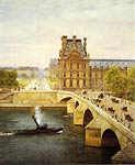 The Pont Royale and The Louvre, View of the Seine Marie-Francois