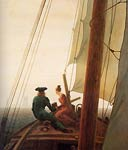 Sailing ship Caspar David Friedrich