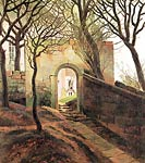 The cemetery entrance Caspar David Friedrich