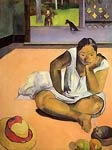 Te Faaturuma aka The Brooding Woman Paul Gauguin