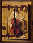 Violin and Music aka Music Literature William Harnett