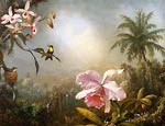 Orchids, Nesting Hummingbirds and a Butterfly Martin Heade
