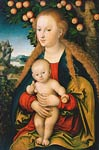 The Virgin and Child Under an Apple Tree Lucas, I Cranach