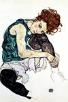Seated Woman with Bent Knee Egon Schiele