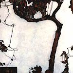 Autumn Tree with Fuchsias Egon Schiele