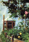 House with a Bay Window in the Garden Egon Schiele