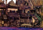 Houses on the Moldau, Krumau Egon Schiele