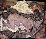 Lovers- Man and Woman Egon Schiele