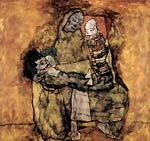 Mother with two children Egon Schiele