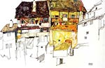Old Houses in Krumau Egon Schiele