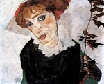 Portrait of wally Egon Schiele