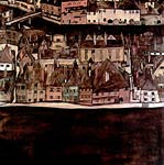 The small city ii view from krumau at the moldau Egon Schiele
