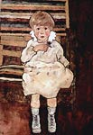 Sitting child Egon Schiele
