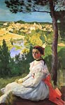 View of the village Frederic Bazille