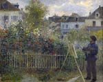 Claude Monet painting in his Garden at Argenteuil Pierre-Auguste